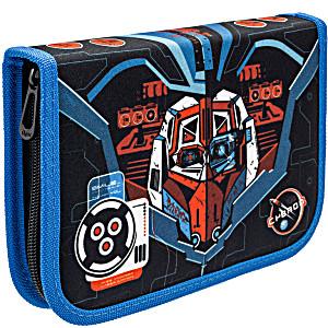 Пенал с наполнением для мальчика Трансформер синий Tiger Family 23 предмета